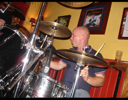 Jason on drums